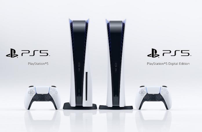 A sinistra PlayStation 5 Standard Edition, a destra PlayStation 5 Digital Edition