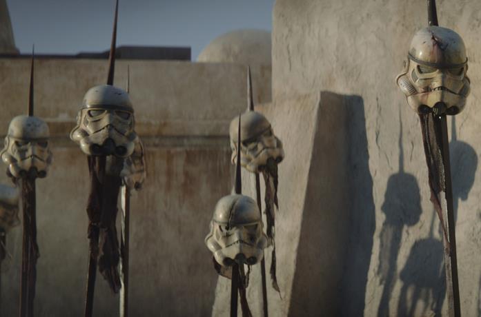 Le teste degli Stormtrooper sulle picche