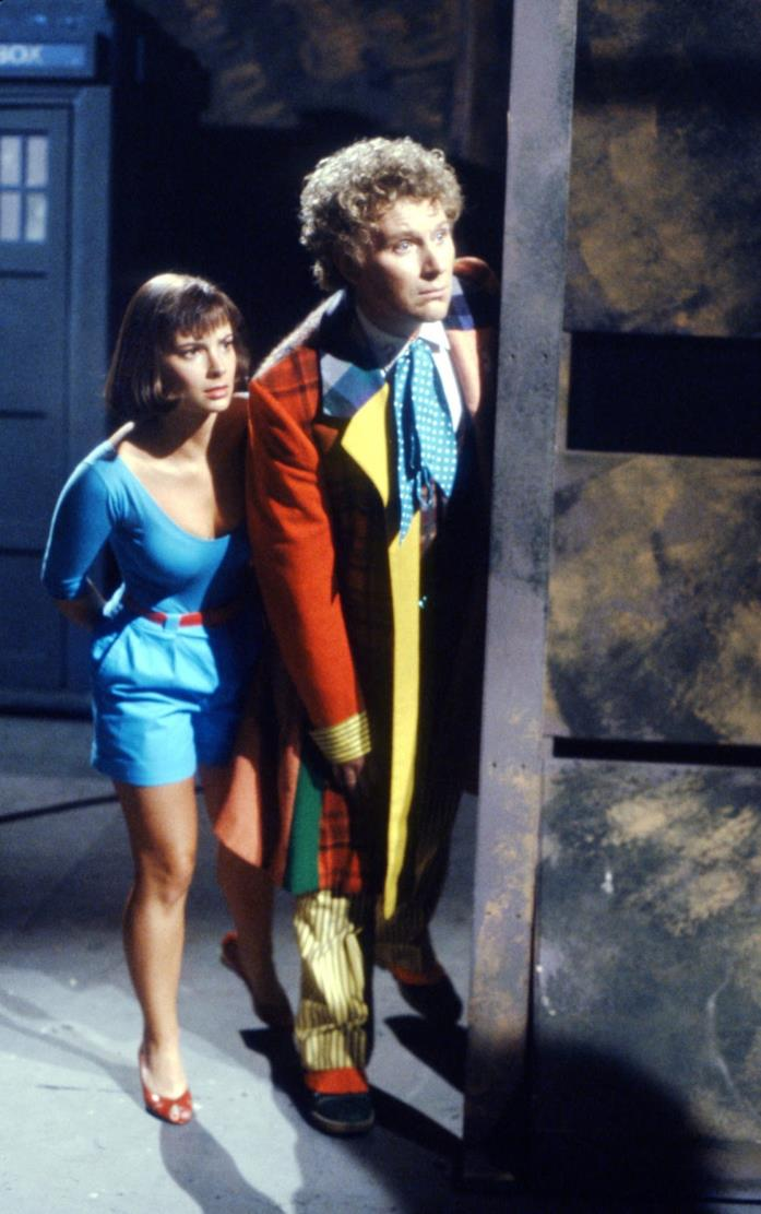 Colin Baker insieme a Nicola Bryant in Doctor Who