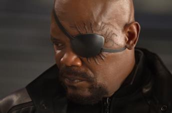Samul L. Jackson nei panni di Nick Fury in The Avengers