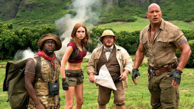 Karen Gillan in una scena del film Jumanji: Benvenuti nella giungla