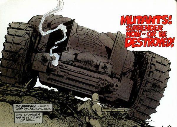 La Batmobile di Frank Miller disegnata come un carro armato gigante