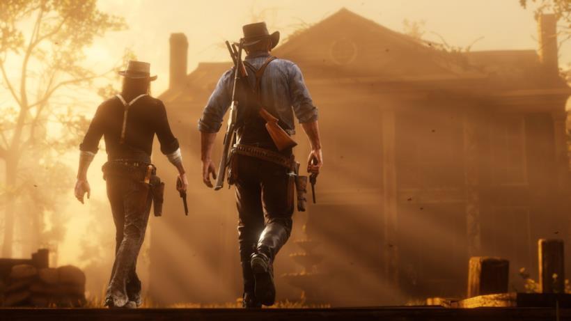 Arthur armato di pistole e fucili