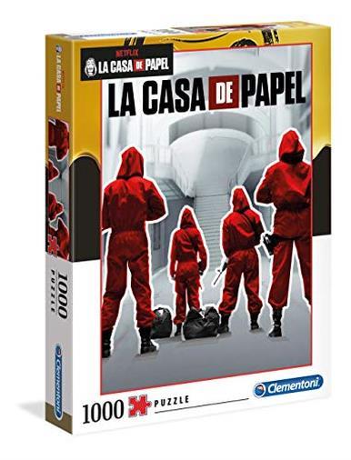Clementoni - 39532 - Puzzle La Casa Di Carta - 1000 Pezzi - Made In Italy - Puzzle Adulti Netflix
