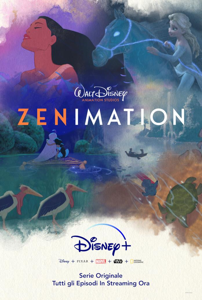 Il poster ufficiale della serie di cortometraggi Zenimation