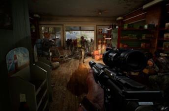 Armi pronte a sparare in Overkill's The Walking Dead