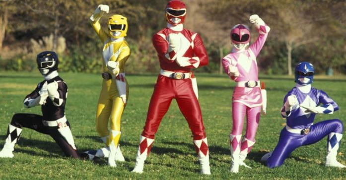 Un'immagine dei protagonisti della prima serie TV dedicata ai Power Rangers
