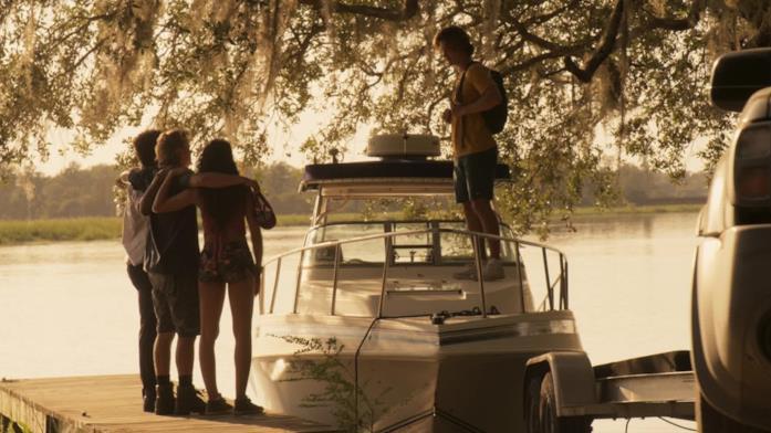 Una scena del finale di Outer Banks