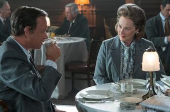 Meryl Streep e Tom Hanks in una scena del film