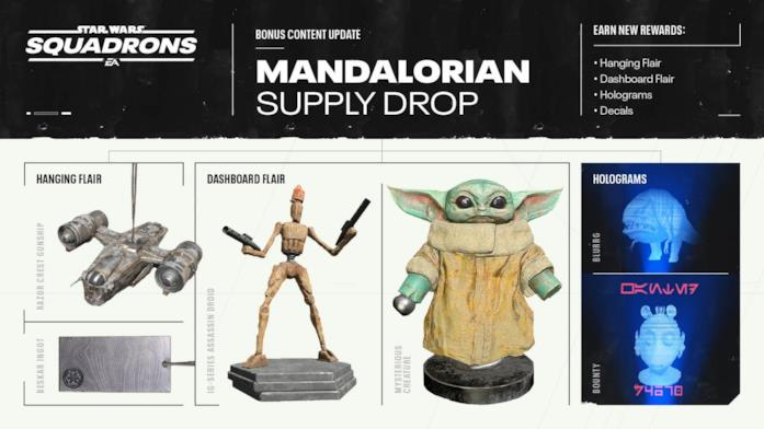Gli oggetti a tema The Mandalorian presto disponibili in Star Wars: Squadrons