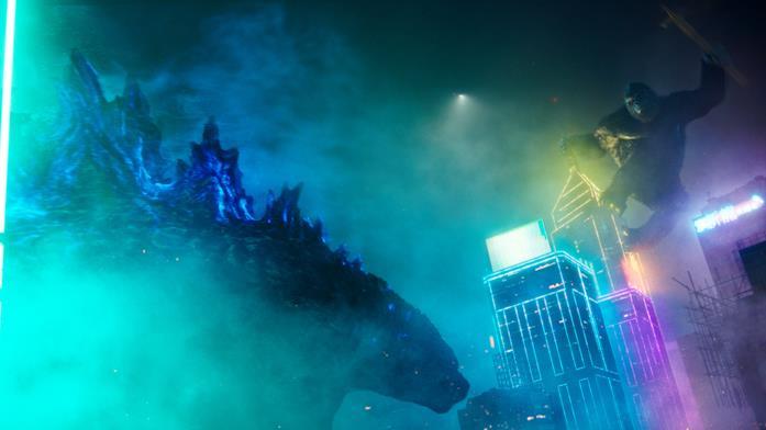 Godzilla e Kong in una scena del film
