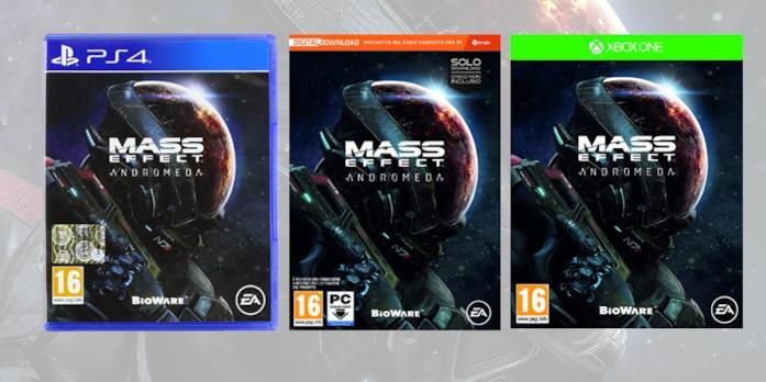 Le boxart di Mass Effect Andromeda