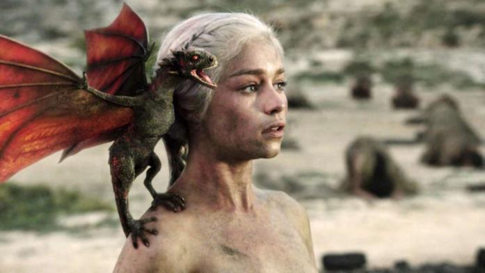 Daenerys e il neonato Drogon