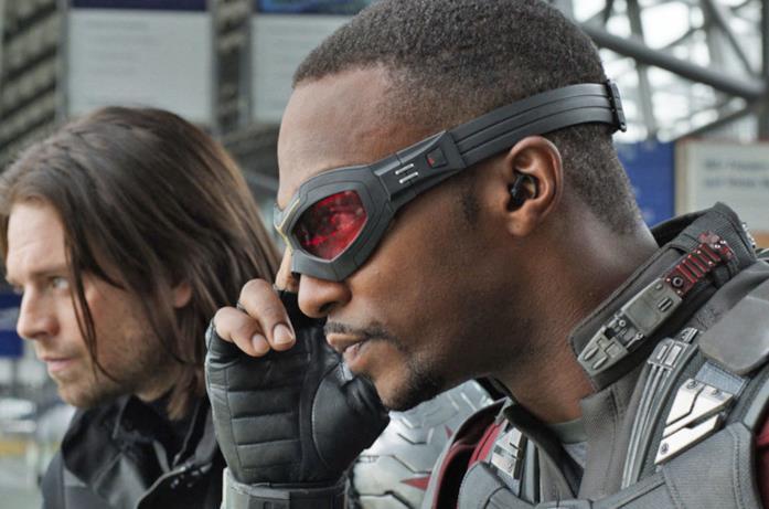 Anthony Mackie e Sebastian Stan in Civil War