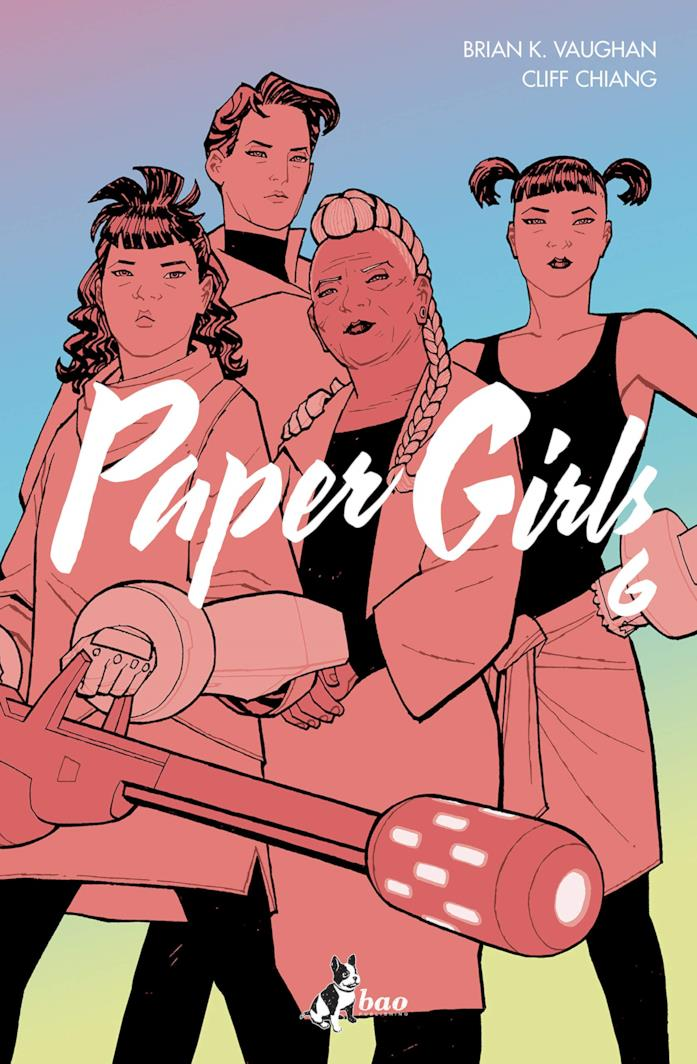 La copertina del sesto volume di Paper Girls