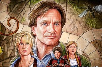 Un'immagine dei protagonisti di Jumanji nel poster del film