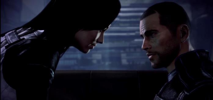 Miranda e Shepard in Mass Effect 3