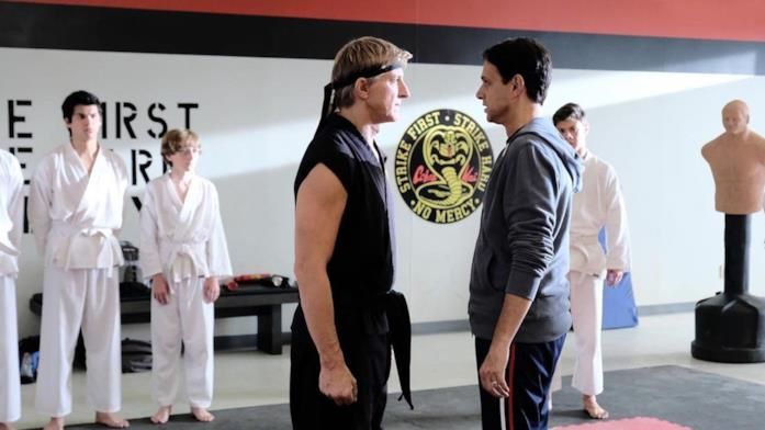 Due karateki si fronteggiano sul tatami