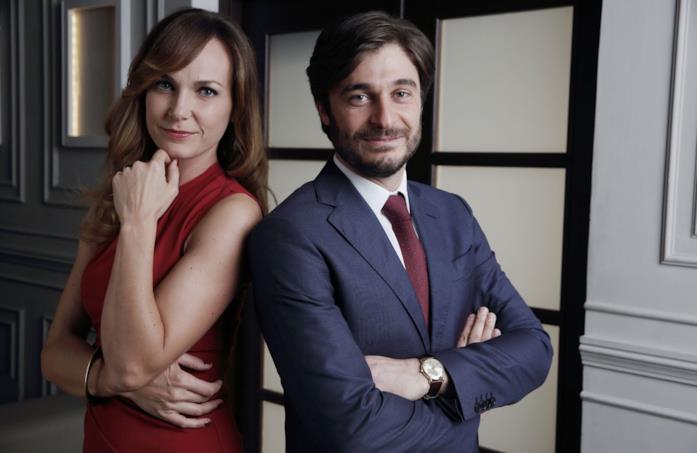 Sara Zanier e Lino Guanciale