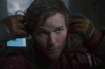 Chris Pratt nell'incipit di Guardiani della Galassia