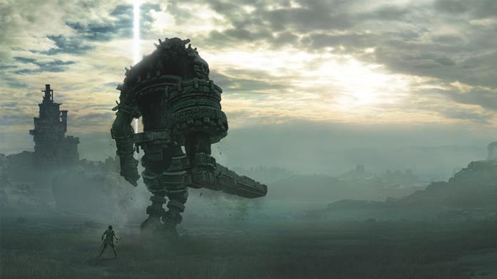 Un evocativo screenshot del remake di Shadow of the Colossus