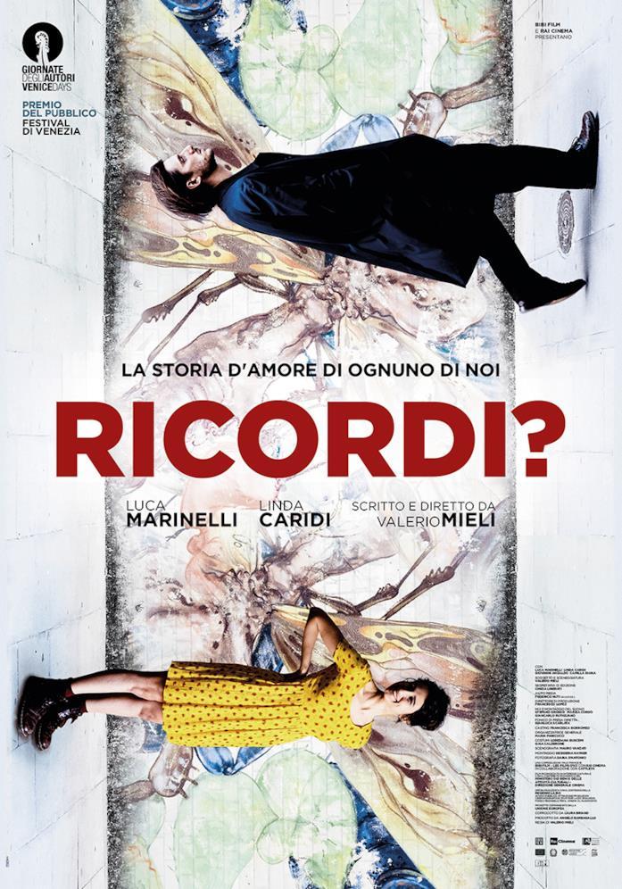 Luca Marinelli e Linda Caridi nel poster di Ricordi?