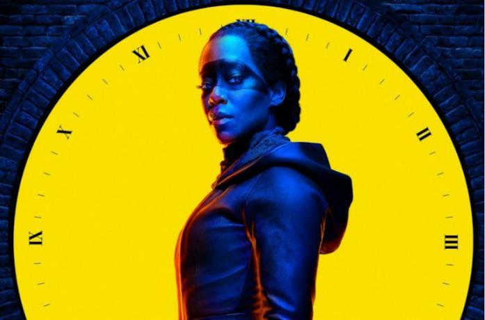 Un'immagine di Angela Abar nel poster di Watchmen