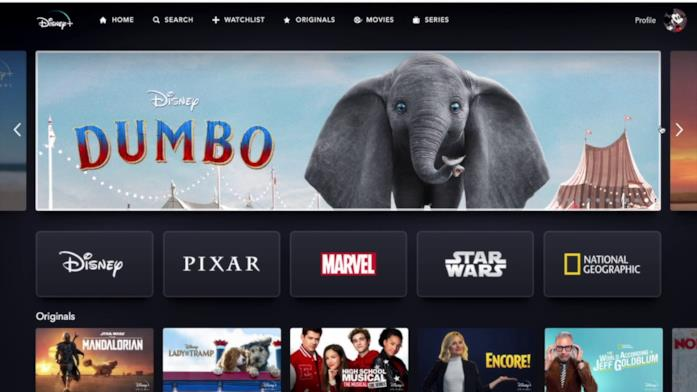 La navigazione da Browser di Disney+