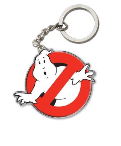 Portachiavi In Metallo con Logo Ghostbusters
