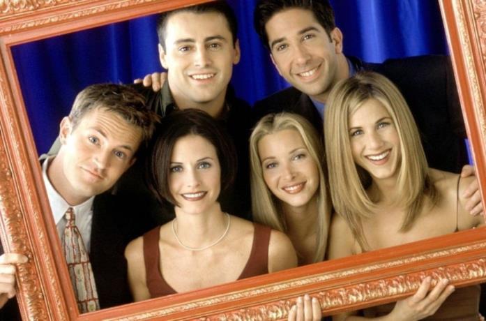 Il cast di Friends in primo piano