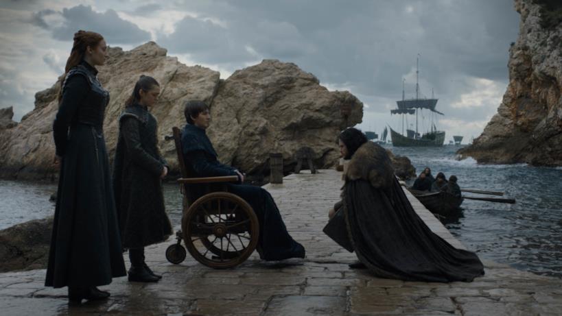 Gli Stark nell'episodio di GoT 8x06, The Iron Throne