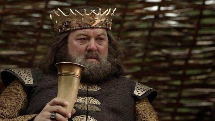 Mark Addy è Re Robert Baratheon in Game of Thrones