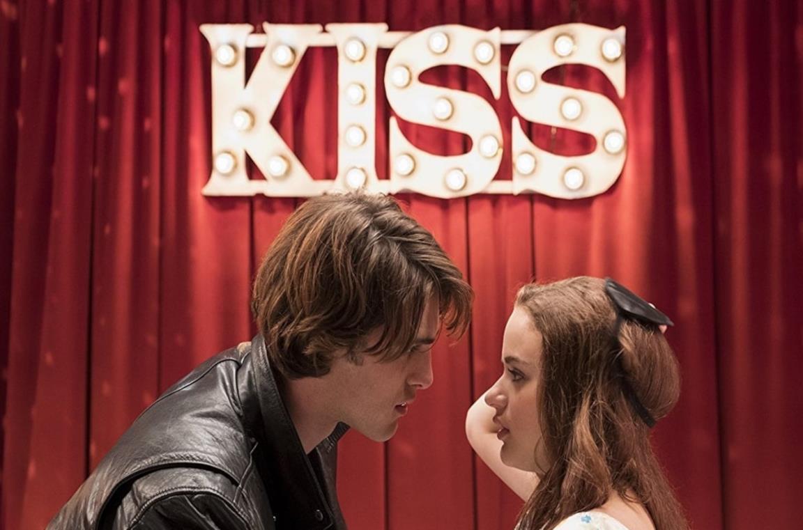 Primo piano di Jacob Elordi e Joey King in The Kissing Booth