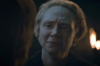 Gwendoline Christie piange in Game of Thrones 8x04