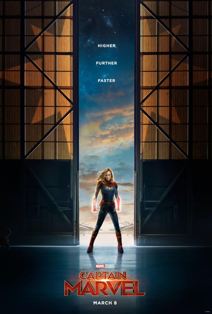 Il primo poster di Captain Marvel nasconde in basso a sinistra il gatto Goose