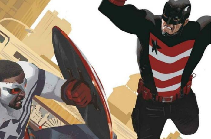 Un'immagine di Falcon contro US Agent nei fumetti Marvel