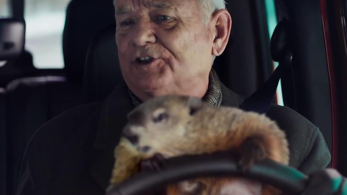 Bill Murray in jeep nello spot-sequel di Ricomincio da capo per il Super Bowl