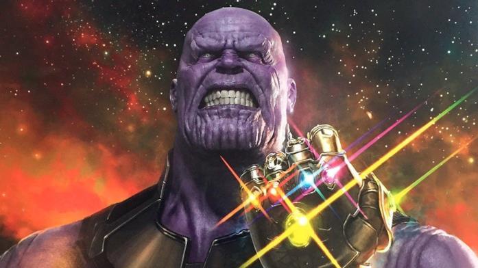 Thanos usa il Guanto dell'Infinito