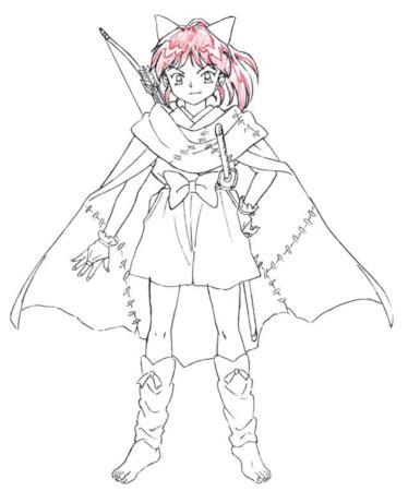 Il costume di Moroha, la cacciatrice di demoni figlia di Inuyasha