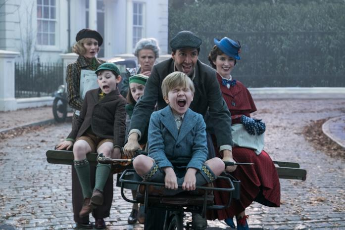 Mary Poppins, Jack e i Banks in bicicletta