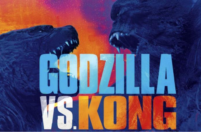 Il banner promozionale di Godzilla vs. Kong