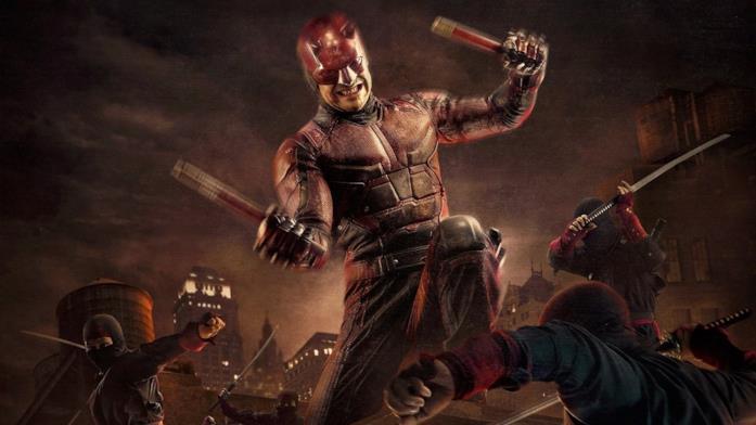 Charlie Cox nelle vesti di Daredevil