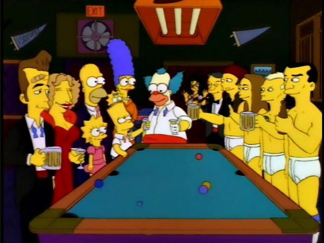 """Una scena dalla puntata de I Simpson """"Lo show di Krusty viene cancellato"""""""