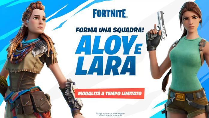 Fortnite incontra Aloy e Lara Croft