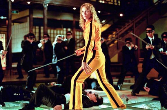 Uma Thurman in una scena del film Kill Bill - Volume 1