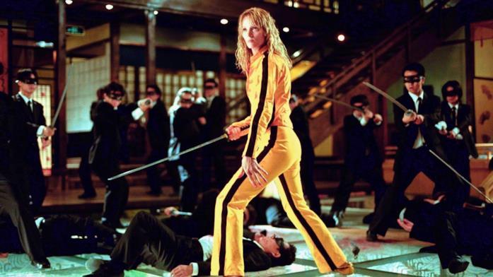 Uma Thurman in una scena del film Kill Bill - Volume 1