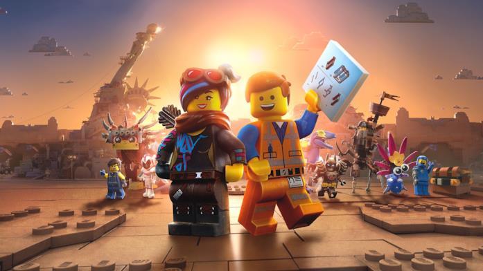 I mattoncini gialli protagonisti di The LEGO Movie 2 in una foto dal film