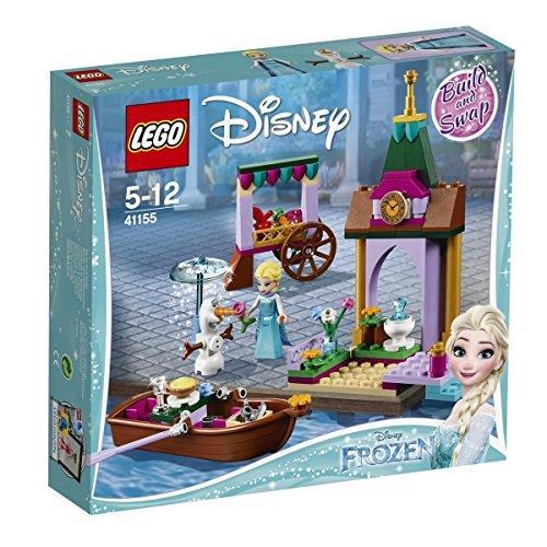 Dettagli del box del set Avventura al mercato di Elsa di LEGO