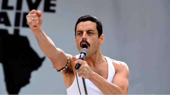Rami Malek nel ruolo di Freddie Mercury in Bohemian Rhapsody