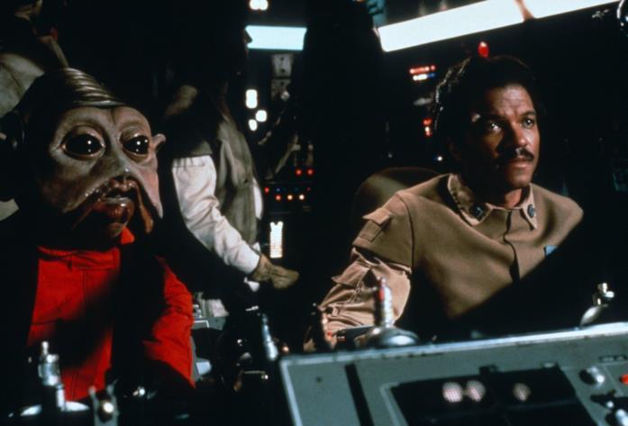 Billy Dee Williams in una scena del film Il ritorno dello Jedi